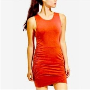 Athleta seeker tank dress orange racerback szM